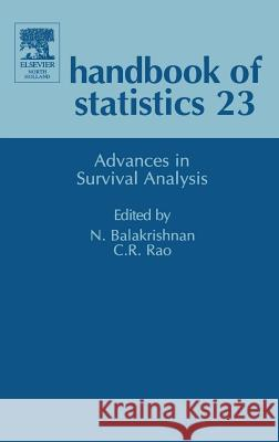 Advances in Survival Analysis C. R. Rao N. Balakrishnan Visser 9780444500793