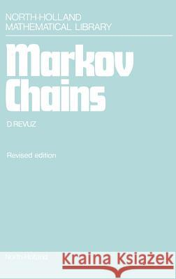 Markov Chains D. Revuz 9780444864000