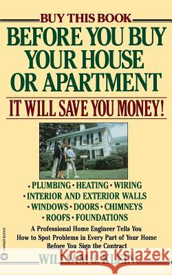 Before You Buy Your House or Apartment William J. Klein 9780446384346