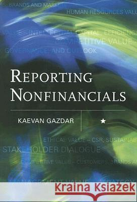 Reporting Nonfinancials Kaevan Gazdar 9780470011973