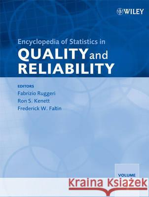 Encyclopedia of Statistics in Quality and Reliability Fabrizio Ruggeri 9780470018613