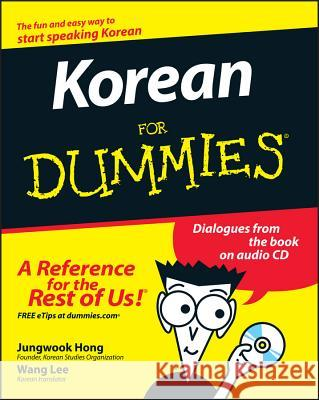 Korean for Dummies [With CD] Jungwook Hong 9780470037188
