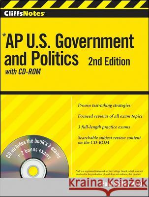 Cliffsnotes AP U.S. Government and Politics, [With CDROM] Paul Soifer 9780470562130
