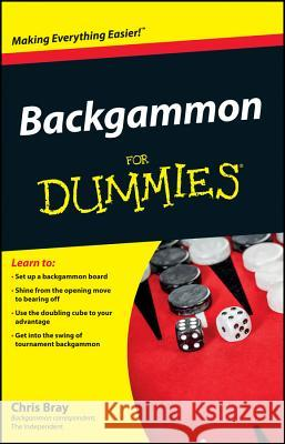 Backgammon for Dummies Chris Bray 9780470770856