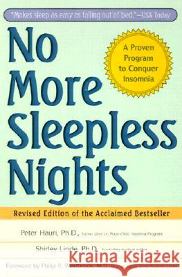 No More Sleepless Nights Peter Hauri Shirley Linde Philip Westbrook 9780471149040