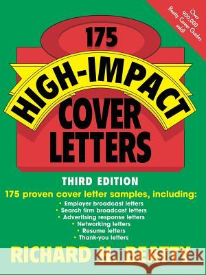 175 High-Impact Cover Letters Richard H. Beatty 9780471210849 John Wiley & Sons