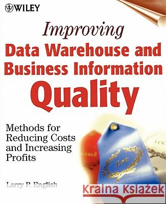 Data Warehouse Quality Larry English 9780471253839