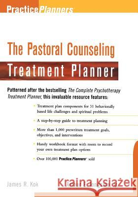 The Pastoral Counseling Treatment Planner Arthur E., Jr. Jongsma Jongsma                                  Kok 9780471254164
