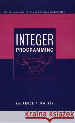 Integer Programming Laurence A. Wolsey 9780471283669