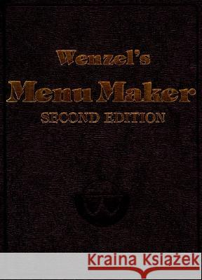 WENZEL'S MENU MAKER William Wenzel 9780471289876