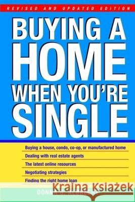 Buying a Home When You're Single Donna Albrecht 9780471392415