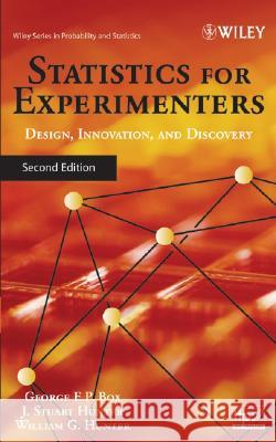 Statistics for Experimenters : An Introduction to Design, Data Analysis, and Model Building George Edward Pelham Box J. Stuart Hunter William G. Hunter 9780471718130