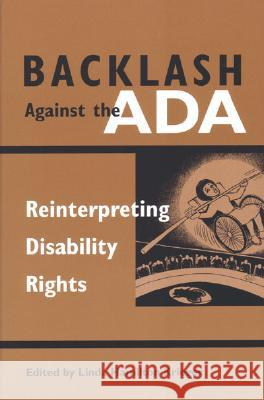 Backlash Against the ADA: Reinterpreting Disability Rights Linda Hamilton Krieger 9780472068258