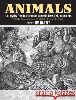 Animals: 1,419 Copyright-Free Illustrations of Mammals, Birds, Fish, Insects, Etc Jim Harter 9780486237664