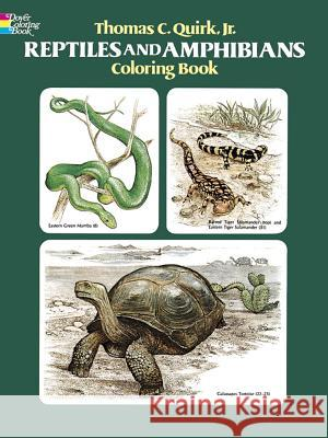 Reptiles and Amphibians Coloring Book Thomas C., Jr. Quirk Samuel Gundy 9780486241111