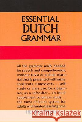 Essential Dutch Grammar Henry Stern 9780486246758