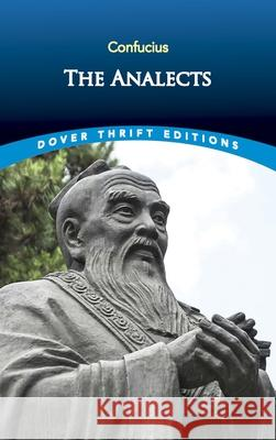The Analects Confucius 9780486284842