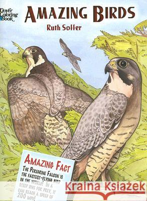 Amazing Birds Coloring Book Ruth Soffer 9780486447964