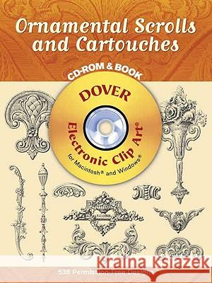 Ornamental Scrolls and Cartouches [With CD-ROM] Syracuse Ornamental Company 9780486996516 Dover Publications