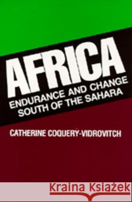 Africa : Endurance and Change South of the Sahara Catherine Coquery-Vidrovitch David Maisel 9780520078819