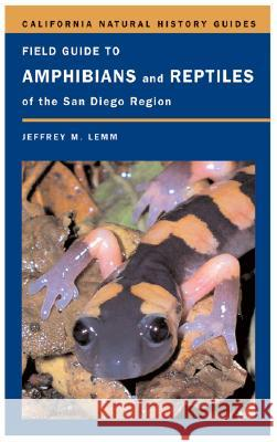 Field Guide to Amphibians and Reptiles of the San Diego Region Jeffrey M. Lemm 9780520245747