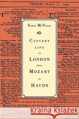 Concert Life in London from Mozart to Haydn Simon McVeigh 9780521028905