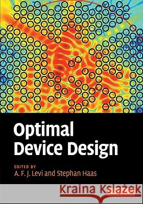 Optimal Device Design A F J Levi 9780521116602 0