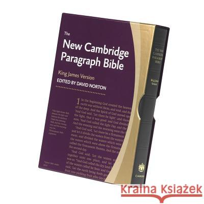 New Cambridge Paragraph Bible-KJV David Norton 9780521190633