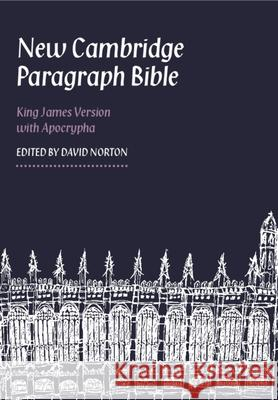 New Cambridge Paragraph Bible-KJV Baker Publishing Group 9780521198813