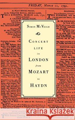 Concert Life in London from Mozart to Haydn Simon McVeigh 9780521413534