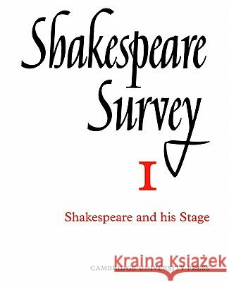 Shakespeare Survey Allardyce Nicoll Jonathan Bate Michael Dobson 9780521523455 Cambridge University Press