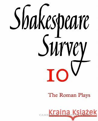 Shakespeare Survey Allardyce Nicoll Jonathan Bate Michael Dobson 9780521523462 Cambridge University Press