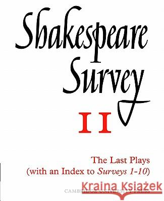Shakespeare Survey with Index 1-10 Allardyce Nicoll Jonathan Bate Michael Dobson 9780521523479 Cambridge University Press