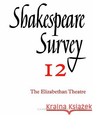 Shakespeare Survey Allardyce Nicoll Jonathan Bate Michael Dobson 9780521523486 Cambridge University Press