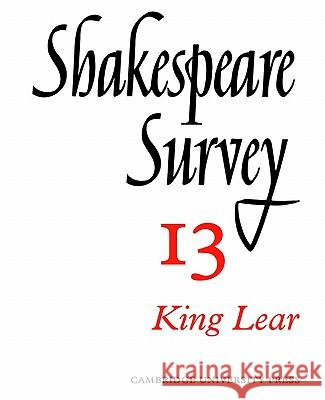 Shakespeare Survey Allardyce Nicoll Jonathan Bate Michael Dobson 9780521523493 Cambridge University Press