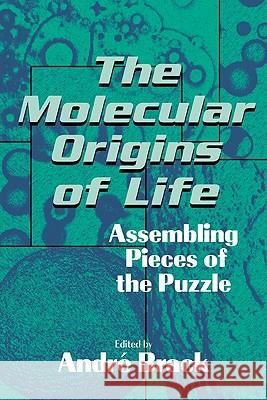The Molecular Origins of Life : Assembling Pieces of the Puzzle Andre Brack Andri Brack 9780521564755