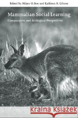 Mammalian Social Learning: Comparative and Ecological Perspectives Hilary O. Box Kathleen Gibson Georgina M. Mace 9780521632638