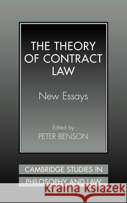 The Theory of Contract Law: New Essays Peter Benson Gerald Postema Jules L. Coleman 9780521640381