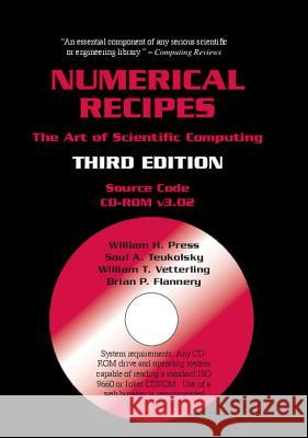 Numerical Recipes Source Code CD-ROM 3rd Edition: The Art of Scientific Computing William H. Press Saul A. Teukolsky William T. Vetterling 9780521706858