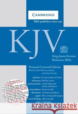 KJV Personal Concord Reference Bible, Black French Morocco Leather, Thumb Index, Red-letter Text, KJ463:XRI black French Morocco leather, thumb indexed Publishing Group Baker 9780521759052