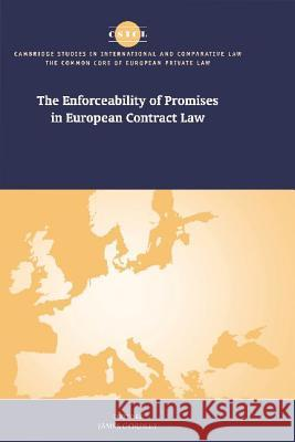 The Enforceability of Promises in European Contract Law James Gordley Mauro Bussani Ugo Mattei 9780521790215 Cambridge University Press
