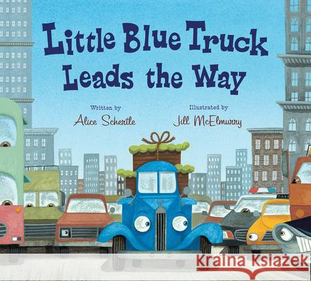Little Blue Truck Leads the Way Board Book Alice Schertle Jill McElmurry 9780544568051 Harcourt Brace and Company