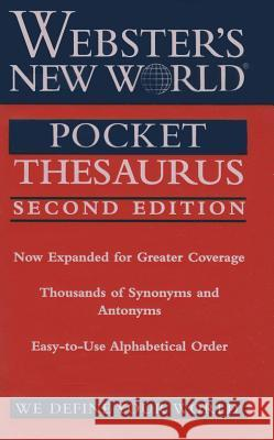Webster's New World Pocket Thesaurus Charlton Laird 9780544817524 Webster's New World