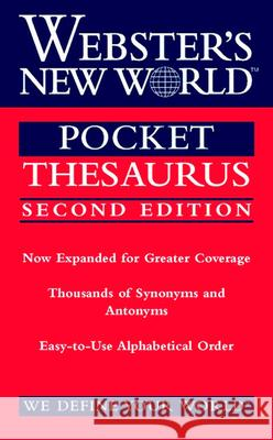 Webster's New World Pocket Thesaurus, Second Edition Charlton Laird 9780544987203 Webster's New World