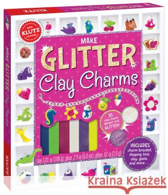 Make Glitter Clay Charms Klutz Press 9780545858465 Klutz