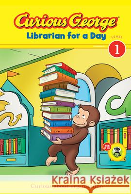 Curious George Librarian for a Day (Cgtv Early Reader) H. A. Rey Julie Tibbott 9780547852812