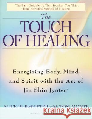 The Touch of Healing: Energizing the Body, Mind, and Spirit with Jin Shin Jyutsu Alice Burmeister Tom Monte Mary Burmeister 9780553377842