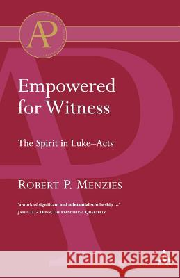 Empowered for Witness Robert Menzies 9780567041906