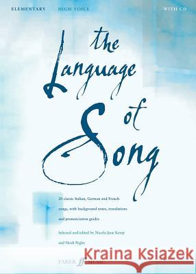 The Language of Song -- Elementary: High Voice, Book & CD  9780571523450