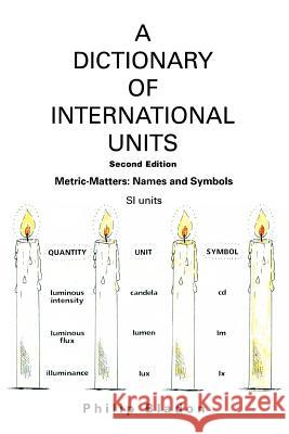 A Dictionary of International Units: Metric-Matters: Names and Symbols Philip Bladon 9780595371150